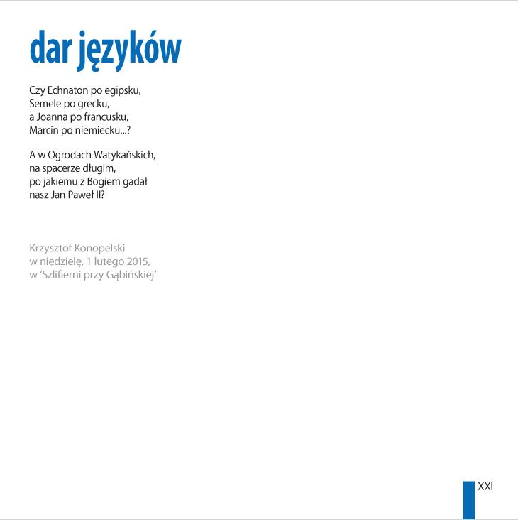 Krzysztof Konopelski – 'dar jêzyków'