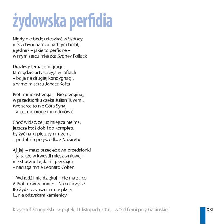 Krzysztof Konopelski – 'perfidia'