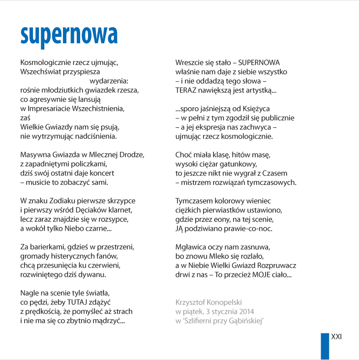 Krzysztof Konopelski – 'supernowa'