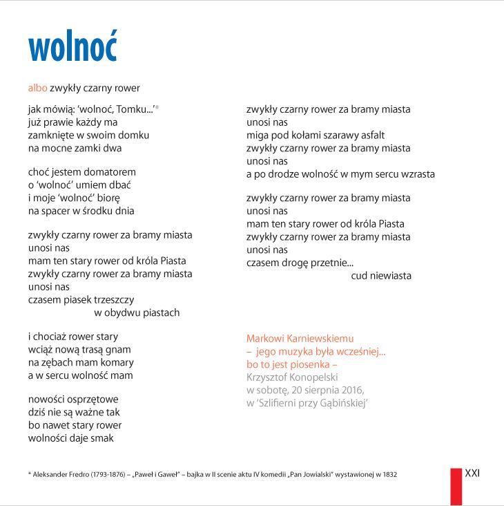 Krzysztof Konopelski – 'wolnoæ'