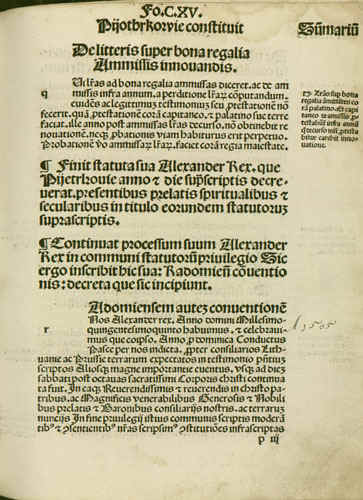 Nihil novi 1505 page 1